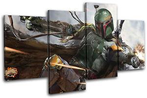 Star Wars Boba Fett Movie Greats MULTI CANVAS WALL ART Picture Print