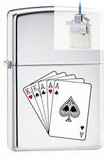Zippo 250 full house poker hand Lighter & Z-PLUS INSERT BUNDLE