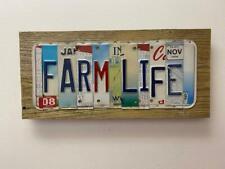 Custom License Plate Sign Farm Life