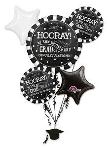 Anagram LARGE GRADUATION BALLOONS BOUQUET - 7 PIECE Foil Party Supplies