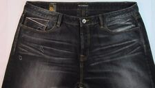 Cult of Individuality Men's Indigo Distressed Selvedge Denim Jeans 44/34 Rebel