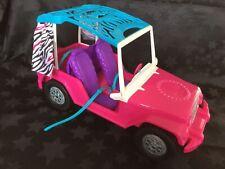 Barbie Safari Sisters Pink Jeep, Seatbelts, Rear Opening Door