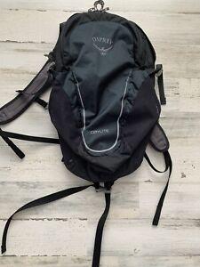 """OSPREY DAYLITE Backpack Black & Blue Design Bag Daypack Lightweight 18""""x12""""x5"""""""