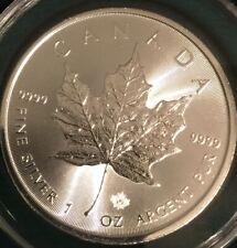 2020 Canadian Silver Maple Leaf .9999 Silver BU GLOVES only Coin Has Mirror Fnsh