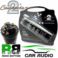 Connects2 Potencia ctcap-1 Faradios 12v Coche Sistema Bass Digital Power Capacitor Cap