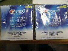 2 LOT of Crest NOTICEABLY WHITE WHITESTRIPS Dental Whitening Kit 40 Strips EXP21