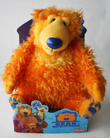 """RARE VINTAGE 1999 BEAR IN THE BIG BLUE HOUSE 15"""" STUFFED PLUSH TOY FISHER PRICE"""