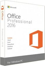 NEW! Microsoft Office 2016 Professional 1 PC Licence Download