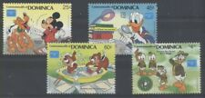 DISNEY PHILATELIE Dominique 4 val de 1986 ** SCOUTISME