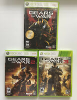 Gears of War 1, 2, & 3 Trilogy Bundle (Xbox 360)-W/ Manuals & Tested-FAST SHIP
