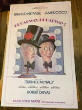 """Terrence McNally Window Card """"Broadway, Broadway!"""" 1978 NEVER OPENED James Coco"""