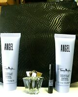 THIERRY MUGLER DELUXE MINI SET ANGEL 3.4 0Z LOTION+ 5 ML EDP+1.2ML EDP SPRAY+BAG