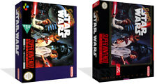 Super Star Wars SNES Replacement Game Case Box + Cover Art work (No Game)
