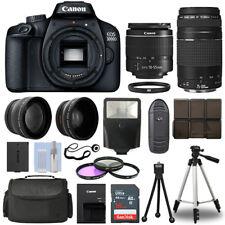 Canon EOS 3000D DSLR Camera + 4 Lens Kit 18-55mm + 75-300mm + 16GB Top Value Kit