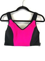 Ideology Women's Pink and Black Sports Bra Size 40D New With Tags
