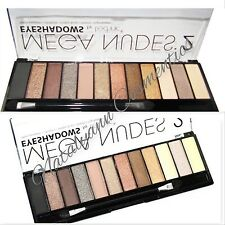 Technic Mega Nudes 2 Eyeshadow Palette 12 Shades Applicator