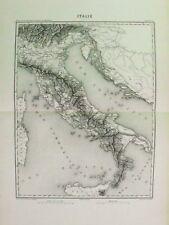 THIERS.Rara Mappa Italia Italy Italie Italien 1858