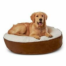 Happy Hounds Scout Small 30 x 30 in. Mocha Deluxe Round Pillow Style Dog Bed