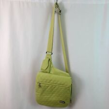 Travelon Crossbody Handbag Anti-Theft Multi Compartment  Flashlight Green  NEW