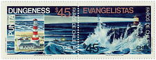 Chile 1986 Lighthouses Dungenes & Evangelistas Scott N° 706 & 707 MNH