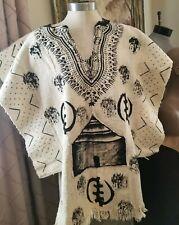 African mud cloth poncho