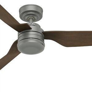 Hunter Fan 52 in Contemporary in Matte Silver Outdoor Ceiling Fan with 3 Blades