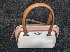 NWT Kate Spade Patterson Drive Colorblock Small Dome Satchel in Optic White