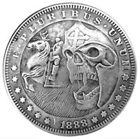 Templar Demon Legion Novelty Heads Tail Good Luck Token Coin US FAST SHIPPING