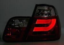 FEUX ARRIERES TUBE LED NOIR ROUGE BMW SERIE 3 E46 98-01 BERLINE 323i 325i