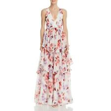 Fame And Partners Womens Halter Floral V-Neck Evening Dress Gown BHFO 7463