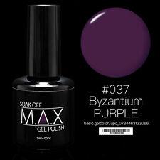 MAX 15ml Soak Off Gel Polonais Nail Art UV LED Couleur # 037 - Byzance Violet