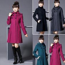 Women Ladies Warm Winter Hooded Coat Slim Parka Overcoat Long Jacket Outwear NEW