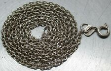 "Vintage 925 STERLING SILVER Southwestern TAXCO Rolo Link Chain 22-1/4"" Necklace"