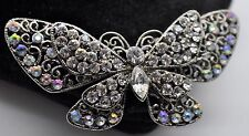 Vintage Butterfly Style Fashion Brooches Dkab/Lt clear  high-quality Bouquet