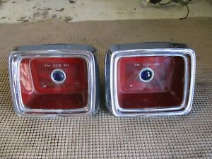 1964 Dodge Polara Coronet Tail Lights Taillight Assemblies 2424222