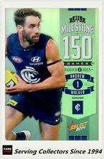 2014 AFL Champions Milestone Holofoil Card MG12 Andrew Walker (Carlton)