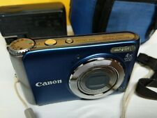 Canon PowerShot A3100 IS 12.1MP Digital Camera - Blue - Works Great! W/ Case