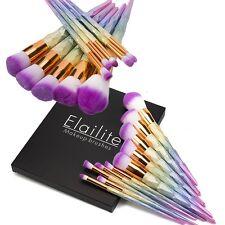 US 10PCS Pro Kabuki Makeup Brush Set Cosmetic Foundation Face Cream Brushes Kit