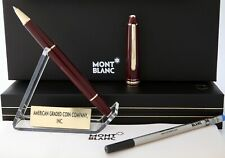 "Montblanc Germany ""1995"" 163R Burgundy Rollerball/Fineliner- Rare New Condition!"
