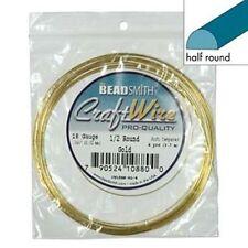 Half Round 18Ga Non-Tarnish Gold Color Wire 4yd 41572