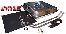 "55 56 Chevy Stainless Gas Fuel tank - 3/8"" Sending unit - Strap kit  & Tank pad"