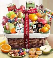 Congratulations Fruit & Sweets Gift Basket-Sensational Delicious Snack Present