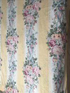 Croscill Curtain-shower or Window-Princess Boquets & Pearls-yellow & White