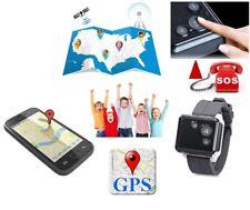 LOCALIZZATORE SATELLITARE GPS GSM TRACKER OROLOGIO BAMBINO ANDROID IOS SOS ANTI