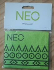 ADIDAS NEO..NEW IN BAG ..FOLDED PAPER WALLET CARD HOLDER..GREEN FLAT PURSE