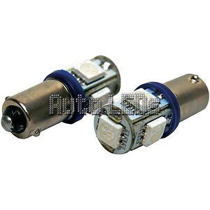 1 Blue 5 x 5050 LED BA9s 12v Interior LED Bulb