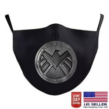 Agents of Shield Face Mask Washable Ear Buckle Adjustable & Pocket Superhero NEW