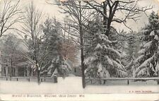 Bear Creek Wisconsin~Winter Homes~Trees Laden With Snow~1907 Postcard~as is