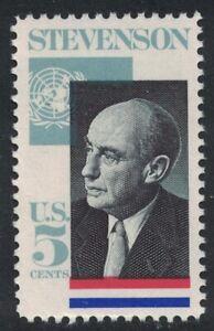 Scott 1275- Adlai Stevenson, Illinois Governor- 5c MNH 1965- unused mint stamp