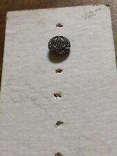 Vintage Twinkle Button Pierced Filagree Scrolls Silvertone Mirror Back